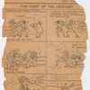 Cartoon depicting Rudolph Valentino boxing with news editor as published in the Evening World, July 20, 1926