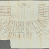 Seating chart sketch of Congress Hall, Philadelphia, by Philip Van Cortlandt