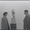 Constantin Brancusi exhibition at the Guggenheim Museum, 1955. New York, NY