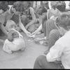 Playground and Bocci game. New York, NY.