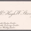 Strong, Hugh W