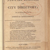 New York City directory, 1808/09