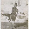 "Bert Williams in his rooster costume from the theatrical revue the ""Ziegfeld Follies"""