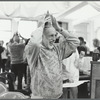 Jerome Robbins wearing a birthday hat at his 71st birthday party