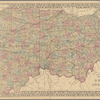 County & township map of the states of Ohio and Indiana