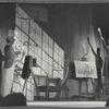 Bartholdi studio, featuring Eddie Albert and Allyn Ann McLerie