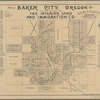 Map of Baker City, Oregon