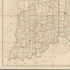 Map of Ohio and Indiana: exhibiting the post offices, post roads, canals, rail roads, &c.