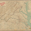 Map showing the location of battle fields of Virginia: compiled from official war records and maps for the Chesapeake & Ohio Railway Co., 1891