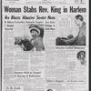 Woman stabs Rev. King in Harlem