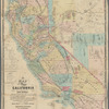 A new map of the states of California and Nevada: exhibiting the rivers, lakes, bays, and islands, with the principal towns, roads, railroads, and transit routes to the silver mining districts : also meridian, standard, range and township lines as established : to which is added the county boundaries and United States land districts