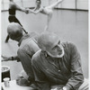 Jerome Robbins rehearsing Goldberg Variations with New York City Ballet dancers