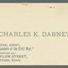 Dabney, Charles K