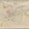 Map of the vicinity of Kansas City in Kansas and Missouri