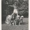 Hayward children forming pyramid
