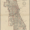 Map of the city of Chicago showing boundaries, sections and street names, 1896