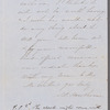 Letter from Nathaniel Hawthorne and Sophia Peabody Hawthorne to Herman Melville