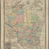 Blanchard's map of Wisconsin and northern Michigan: showing the counties, towns & rail roads