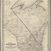 Map of Wisconsin showing the Milwaukee & Horicon Railroad