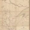 Post route map of the state of Minnesota: with adjacent parts of Iowa, Nebraska, Dakota, Wisconsin and of the British possessions : showing post offices with the intermediate distances between them and mail routes in operation on 1st October 1883