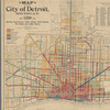 Map of the city of Detroit, Michigan, 1899: showing paved streets, public schools, police stations, fire engine and ladder houses
