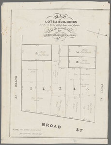 Collection of broadside real estate maps announcing auctions of lots in early 19th century New York City