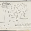 Map of three lots of land in the first ward of the city of New York belonging to the estate of Isaac Minard, deceased. To be sold Thursday, January 16th, at 12 m. at the Merchants'-Exchange by order of the Court of Chancery, Bleecker & Sons, auctioneers