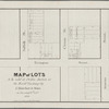 Map of lots to be sold at public auction at the Merchts. Exchange by J. Bleecker & Sons on Tuesday, 28th Octr., 1834