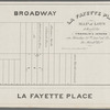 La Fayette Place map of lots to be sold by Franklin & Jenkins on Monday, 26th Jany., at 12 o'clock at the Merchts. Exge.