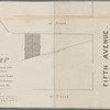 Map of two lots on Thirteenth Street for sale at auction by Jas. Bleecker & Sons, at the Merchants Exchange on the 3rd January 1834