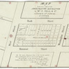 Map of lots to be sold at the Merchants Exchange by Wm. F. Pell & Co. on Thursday the 14th of Feby. 1833, at 12 o'clock