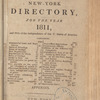 New York City directory, 1811