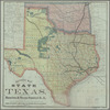 Revised map of the state of Texas published by the Houston & Texas Central R.R: compiled from the official county maps of the General Land Office, and from actual surveys, showing the company's lands in blocks and sectionalized into 640 acre squares, 1876