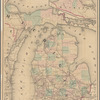 Railroad map of Michigan