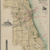 Map of Chicago showing water works system, parks, boulevards, public buildings and railroads, compiled and drawn in the City Map Dept., O.L. Wullweber, Superintendent ; Chas. M. Mueller, chief draftsman & Fred. Haaf, fec.