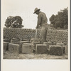 Bosque Farms project. Making adobe brick for school and permanent houses. New Mexico.