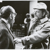 Boris Aronson and Harold Prince during rehearsals for the stage production A Little Night Music