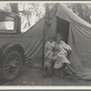 Mother and three children in a California squatter camp