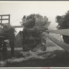 Threshing oats, Clayton, Indiana. July 1936