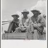 Arkansas sharecroppers going home. Near Blytheville, Arkansas