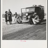 Drought refugee family from McAlester, Oklahoma. Arrived in California October 1936 to join the cotton harvest. Near Tulare, California