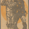 Illustration of Montgomery and Stone (as Mick Chopper and The Scarecrow) for the stage production The Wizard of Oz