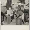 Drought refugees in migratory agricultural workers' camp. California