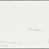 New York City, SoHo, at O.K. Harris Gallery: Papier maché model and artist