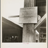 Sign at a tomato packing shed for migrant and local labor. Hazlehurst, Mississippi.