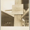 Sign at a tomato packing shed for migrant and local labor. Hazlehurst, Mississippi