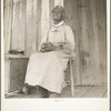 """Cotton sharecropper. She was born """"two years before the surrender."""" Mississippi."""
