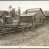 Careyville, northern Florida. The mill closed down January 1, 1937 and the occupants of these houses were dispersed.