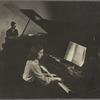 Alan Hovhaness and Maro Ajemian at pianos