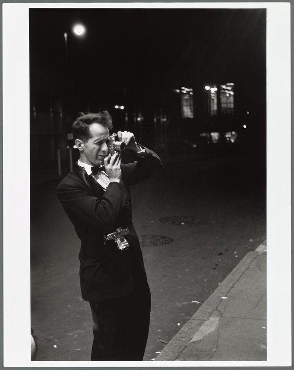 Robert Frank, photographer, N.Y.City, covering opening night, in 1953/54 season, at the old Metropolitan Opera, 39th Street and Broadway